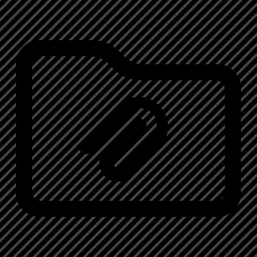 attachment, document, files, folder icon