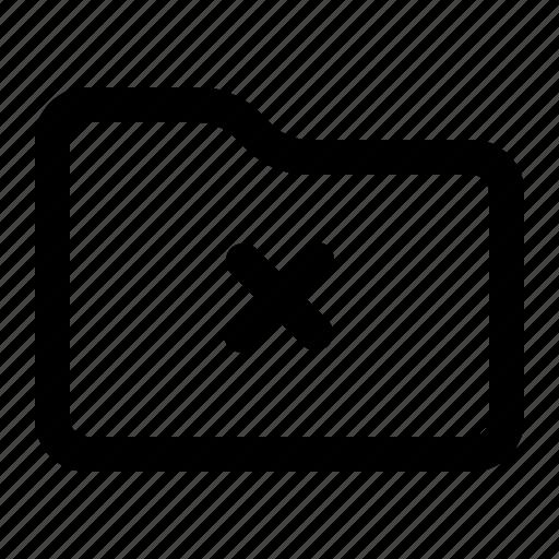 cancel, delete, folder, remove icon