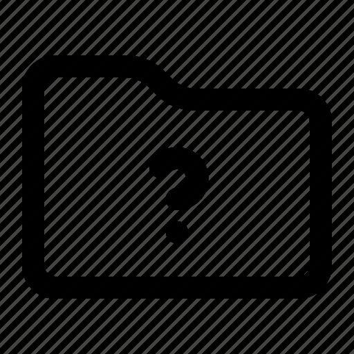 document, files, folder, question mark icon