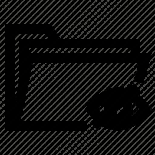 blind, eye, folder, hidden, ui, ux, view icon