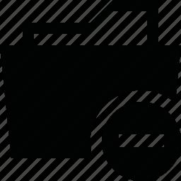 delete, folder, minus, remove icon