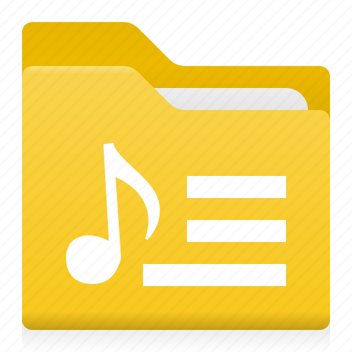 audio, document, folder, key, music, note, office icon