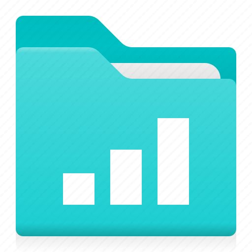 chart, data, diagramm, document, folder, office icon