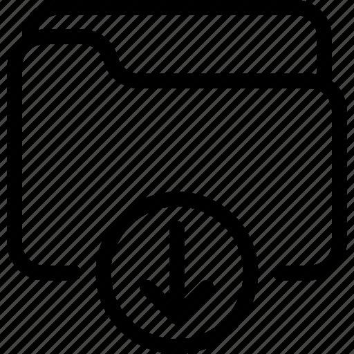 document, download, file, folder, loading icon