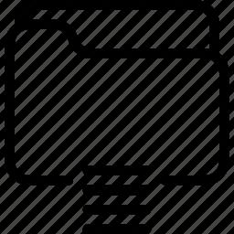 document, file, folder, list, listing icon