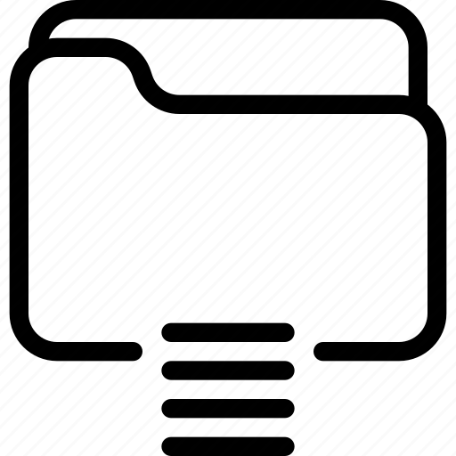 Folder, list, document, file, listing icon - Download on Iconfinder