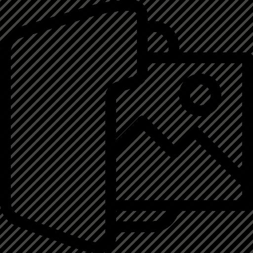 document, folder, image, photo, picture icon