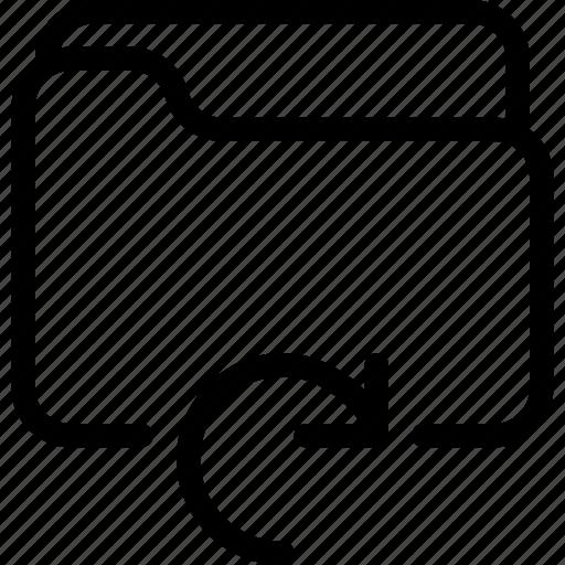 document, file, folder, refresh, reload icon