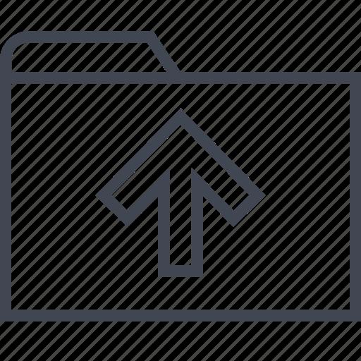 archive, arrow, files, folder, up icon