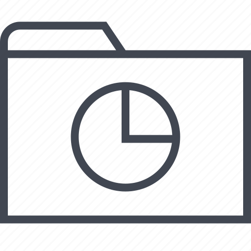 archive, chart, files, folder, pie icon