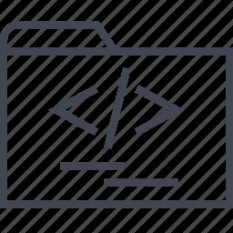 archive, development, files, folder, web icon