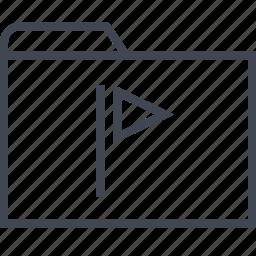archive, favorite, files, flag, folder, save icon