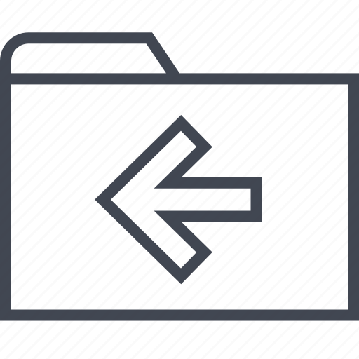 archive, back, files, folder, left icon