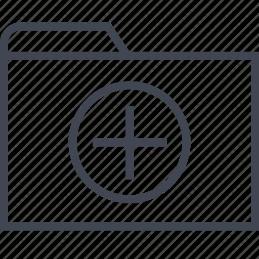add, archive, files, folder, plus icon