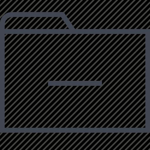 archive, files, folder, line icon