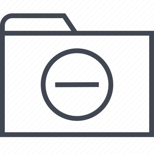 archive, files, folder, negative, sign icon