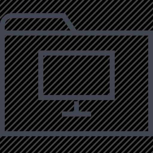 archive, files, folder, monitor, pc, web icon