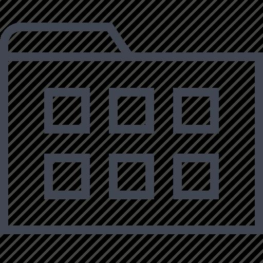 archive, files, folder, six icon