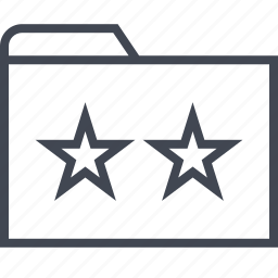 archive, files, folder, stars, two icon