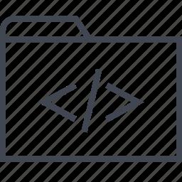development, file, folder, web icon
