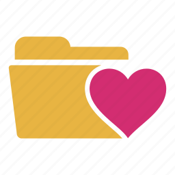 bookmark, document, extension, favorite, folder, heart, like icon