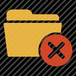 close, delete, document, exit, extension, folder, remove icon
