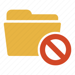 ban, cancel, document, error, extension, folder, remove icon