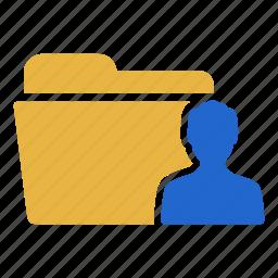 account, document, extension, folder, person, profile, user icon