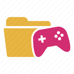 document, extension, folder, game, gaming, play, video icon