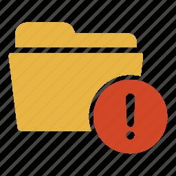 alert, danger, document, error, extension, folder icon