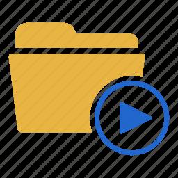 document, film, folder, media, movie, music, video icon