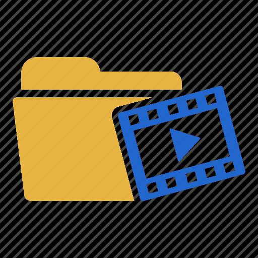 cinema, document, film, folder, media, movie, video icon