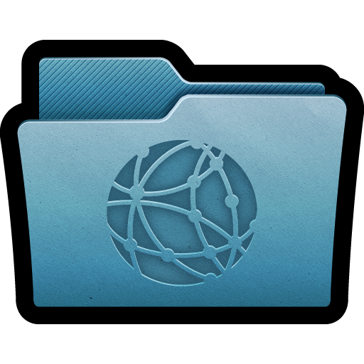 folder, mac, network, server icon