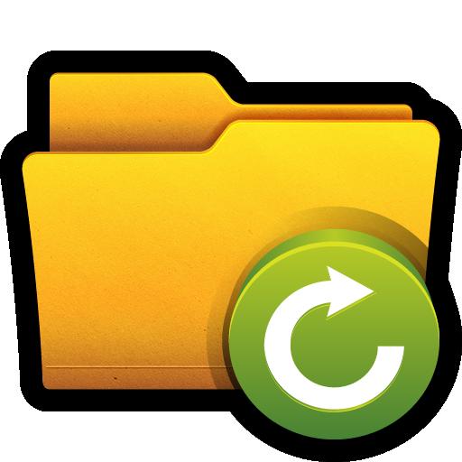 arrow, folder, open, refresh, reload, win icon