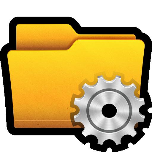 control, documents, folder, gear, preferences, settings, win icon