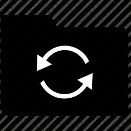 document, exchange, file, folder, process, sync, syncronize icon