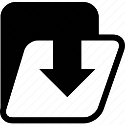 archives, folder, import to folder icon