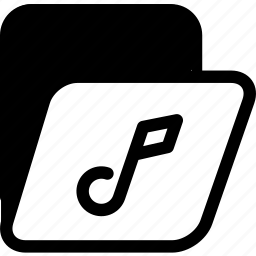archives, folder, music folder icon