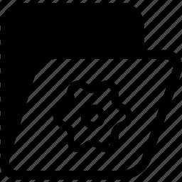 archives, folder, folder setting icon