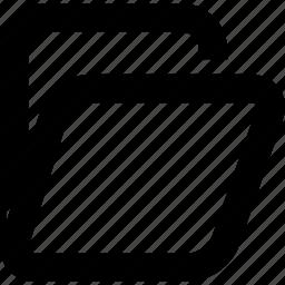 archives, folder, open icon