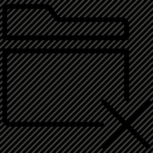 delete folder, directory, remove archive, remove folder icon