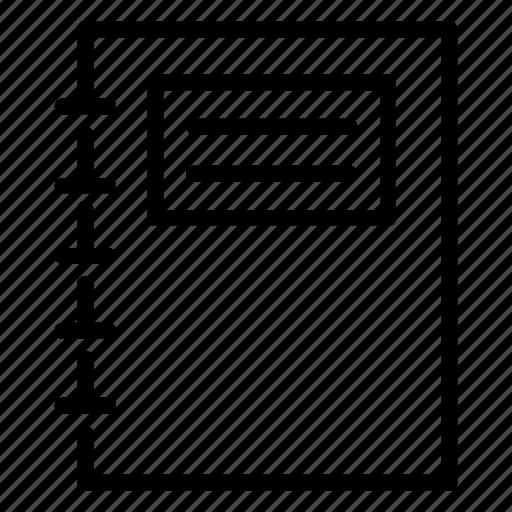 Books Cover Letter Dossier Event Profile User File Icon