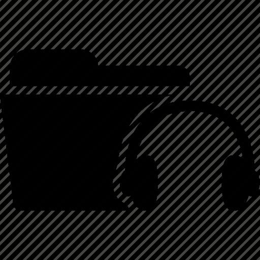 audio, document, file, folder, headphone, music, sound icon