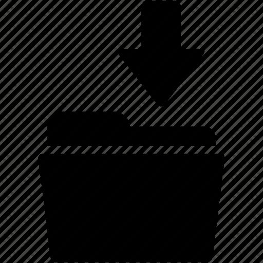 arrow, document, down, download, folder, guardar, save icon