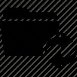 arrows, direction, document, folder, refresh, sync icon