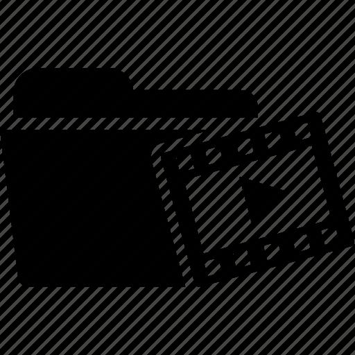 cinema, document, file, film, folder, movies, video icon