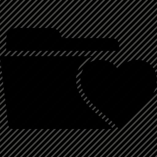 bookmark, document, favorite, folder, heart, like icon