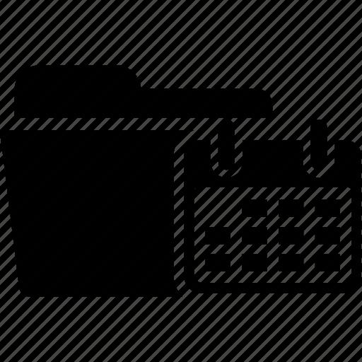 calendar, document, file, folder, planner, reminder, schedule icon