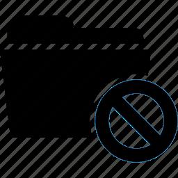 ban, cancel, document, error, folder icon