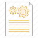 business, document, file, office, options, report, settings icon